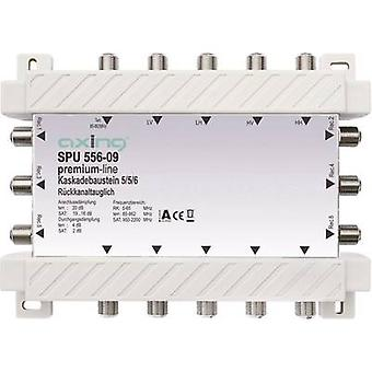 Axing SPU 556-09 SAT cascade multiswitch Inputs (multiswitches): 5 (4 SAT/1 terrestrial) No. of participants: 6