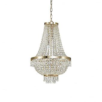 Ideal Lux Caesar 9 lampa hängande ljus guld