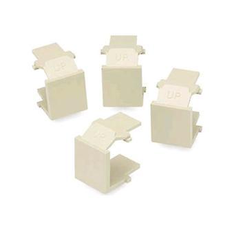 Leviton 41084-BWB Snap-In lege Cover (amandel) (4-pack)