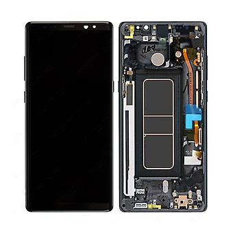 الاشياء المعتمدة® سامسونج غالاكسي ملاحظة 8 الشاشة (شاشة تعمل باللمس + AMOLED + أجزاء) AAA + الجودة - أسود
