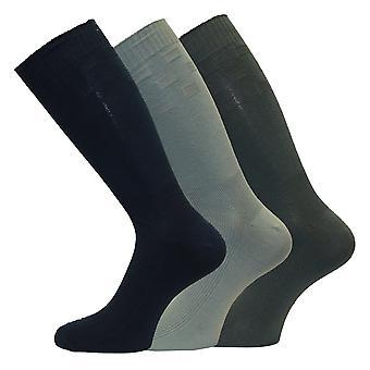 Herre diabetisk venlige ekstra rummelig Top bred fod korte midten kalv sokker 3-par-Pk
