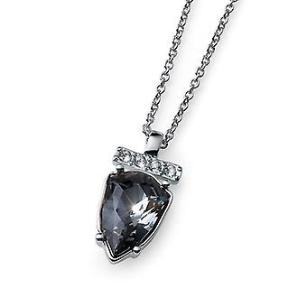 Oliver Weber Pendant Single Drop Trilliant Rhodium, Silver Night