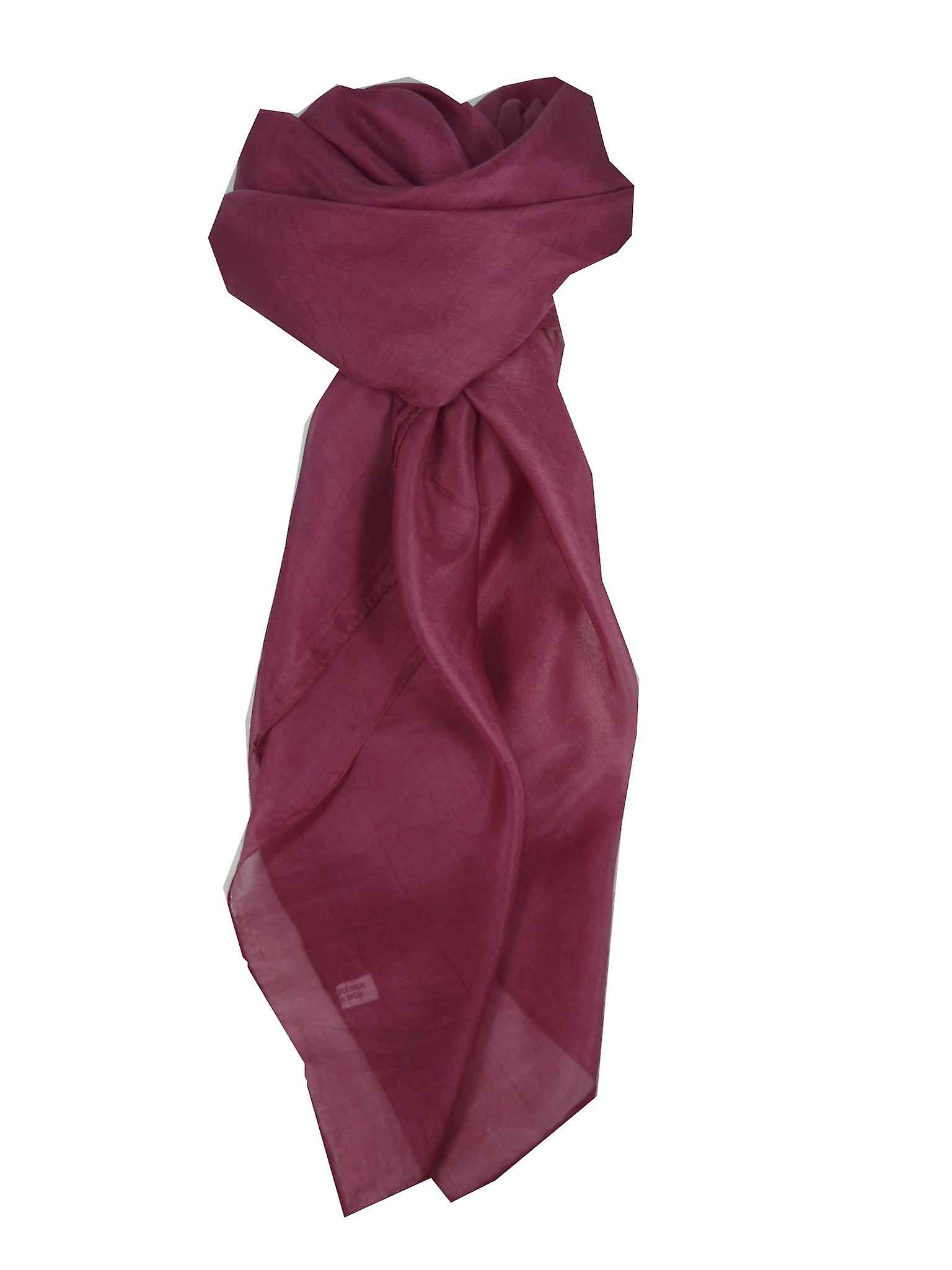 Mulberry Silk Hand Dyed Square Scarf Orchid from Pashmina & Silk