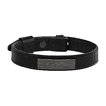 MASERATI - bracelet - mens-steel leather - JM218AMF05