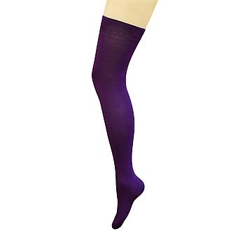 Flirtare calzettoni viola pianura