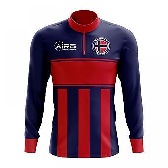 Norwegen-Konzept Fußball Half Zip Midlayer Top (blau-rot)
