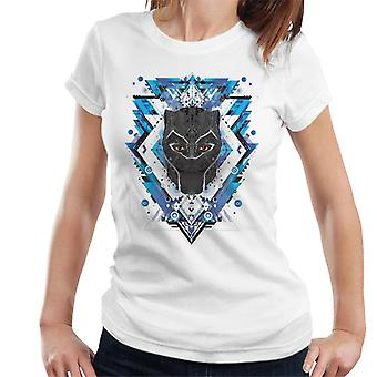 Marvel Black Panther Wakanda Vibranium Mask Pattern Women's T-Shirt