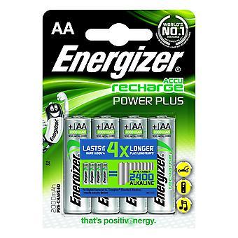Energizer 2000mAh Power Plus oplaadbare batterijen (pakje van 4)