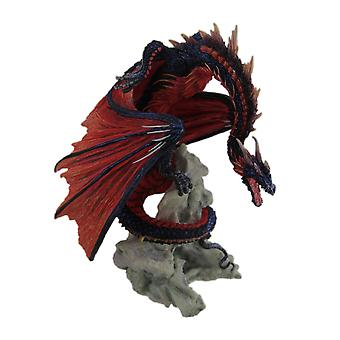 Andrew Bill Bloodfire Hand Painted Red Dragon Statue