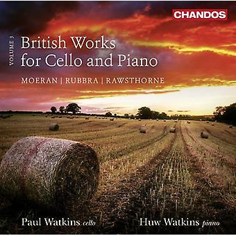 Rawsthorne / Rubbra / Moeran - brittiska verk för Cello & Piano Vol 3 [CD] USA import