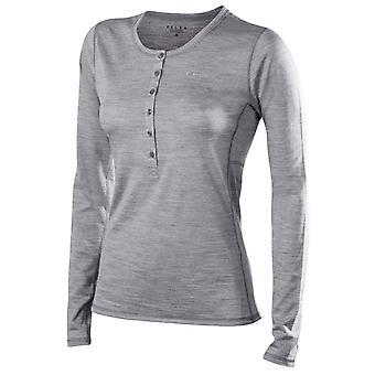 Falke-Seide-Wolle-Langarm-Shirt - Heather Grey