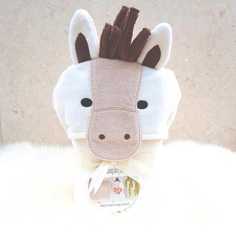 Popcorn Pony baby towel
