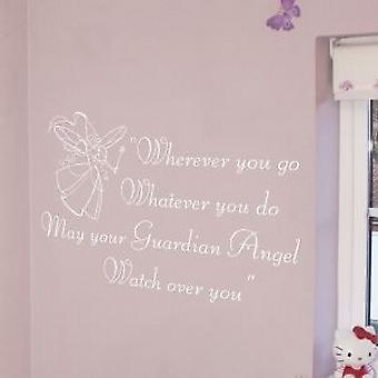 GUARDIAN ANGEL WALL QUOTE
