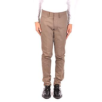 Incotex Ezbc093042 Men's Brown Cotton Pants