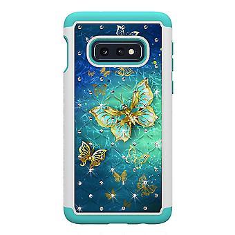 Samsung Galaxy S10e TPU-Skal Armor Extra Tåligt - Gold Butterfly