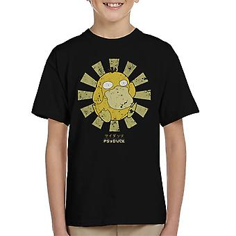 Psyduck Retro japanska Pokemon Kid's T-Shirt
