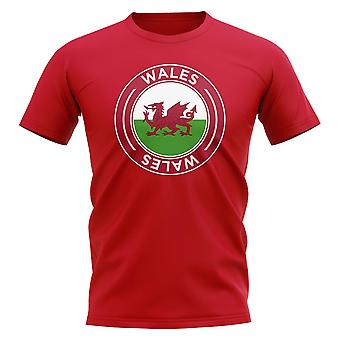 Wales voetbal Badge T-Shirt (rood)