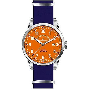 Zeno-horloge mens watch Navigator NAVO kwarts, oranje 5231Q-a5