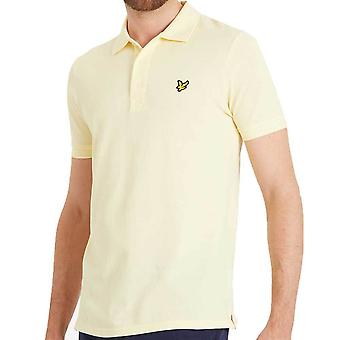 Lyle and Scott Plain Polo Shirt  Vanilla Cream