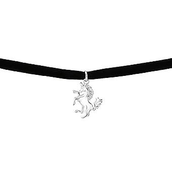 Sterling Silber Unicorn Choker Halskerin