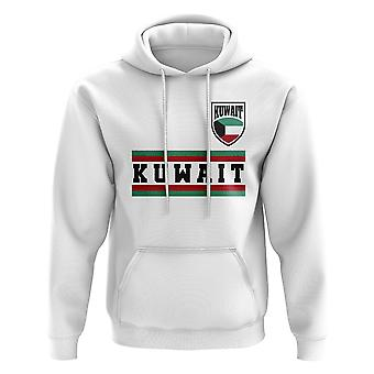 Kuwait Core Football Country felpa con cappuccio (bianco)