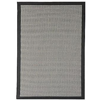 Outdoor carpet for Terrace / balcony of black grey Essentials chrome black 200 / 290 cm carpet indoor / outdoor - for indoors and outdoors