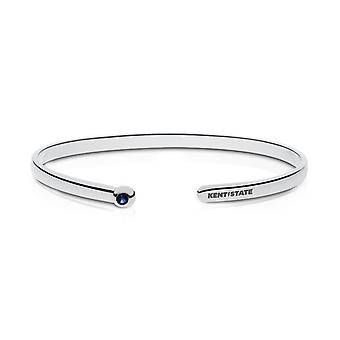Kent State University Engraved Sterling Silver Sapphire Cuff Bracelet