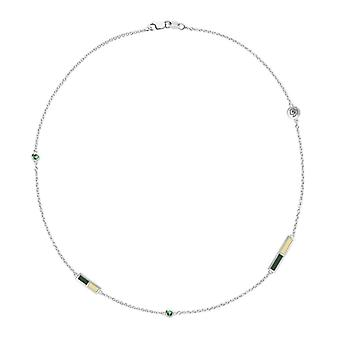 California Polytechnic State University Emerald Chain Necklace In Sterling Silver Design by BIXLER