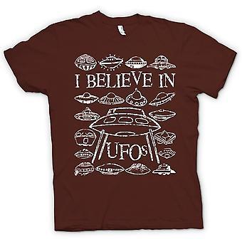 Womens T-shirt - ich glaube an UFOs - lustig