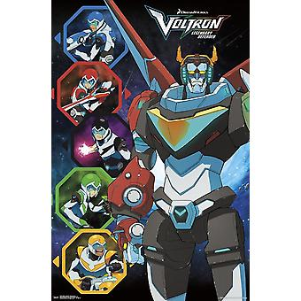 Poster - Studio B - Voltron - Defender of the Universe 36x24