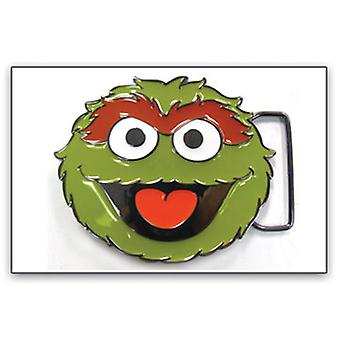 Belt Buckle - Sesame Street - New Oscar Face Green Metal Anime bb120698ses