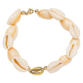 Gemshine Maritim Nautic Bracelet Kauri Shell 925 Argent Haute Qualité Or Plaqué