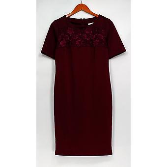 Joan elver klassikere samling kjole kort ermet floral detalj rød A299437