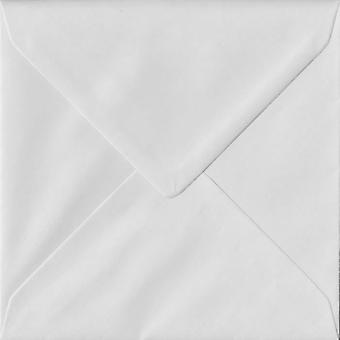 White Gummed 155mm Square Coloured White Envelopes. 140gsm FSC Sustainable Paper. 155mm x 155mm. Banker Style Envelope.