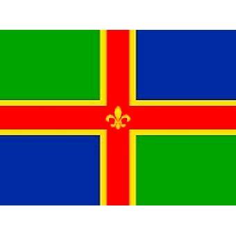 Lincolnshire Flagge 5ft x 3ft Mit Ösen zum Anhängen