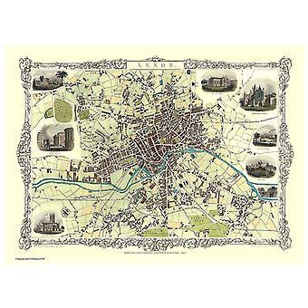 Historie Portal Leeds 1851 kart John Tallis 1000 stykke Jigsaw 690mm x 480mm (JG)