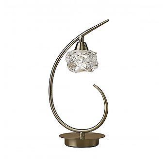 Mantra Maremagnum Table Lamp 1 Light G9, Antique Brass