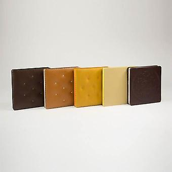 Daycraft Cookie Bookie Lined Notebook, 144 Pages, W125 mm x H125 mm, Various Colours