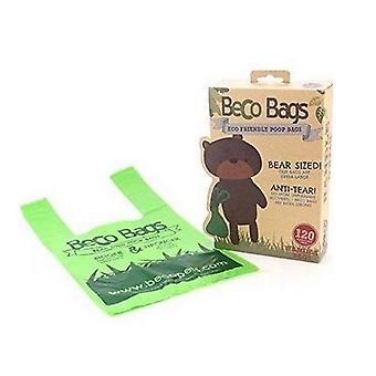Beco plastic hond kak tassen met handvatten