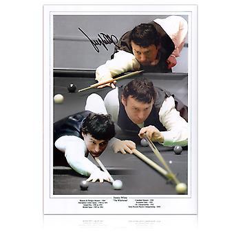 Jimmy White ondertekende snooker foto: de wervelwind