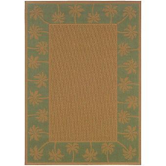 Lanai 606f6 beige/green indoor/outdoor rug rectangle 7'3