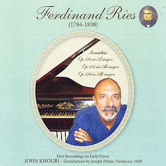 John Khouri - Ferdinand Ries: His Last Three Piano Sonatas [CD] USA import