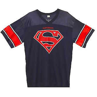 Superman Logo Men's Blaues Fußballtrikot