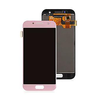 Stuff gecertificeerd® Samsung Galaxy a3 2017 A320 scherm (touchscreen + AMOLED + onderdelen) AAA + kwaliteit-roze