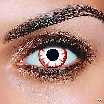 White Demon Contact Lenses (Pair)