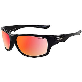 Dirty Dog Ice Shiny Sunglasses - Black/Red