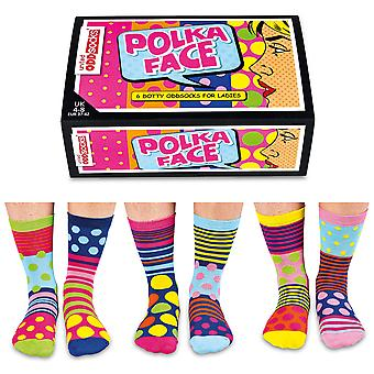 United Oddsocks Polka Face Socks Gift Set For Women