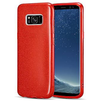 Kit Me Out TPU Gel Case Compatible avec Samsung Galaxy S8 Gloss Sparkle Sparkle Bling Shimmer Cover Shockproof Protection protectrice durable