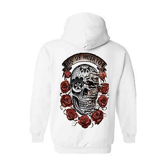 Unisex Zip Up sudadera con capucha Dia de los Muertos Sugar Skull