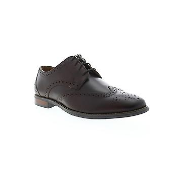 Florsheim Matera II Wing  Mens Brown Leather Dress Oxfords Shoes